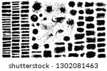 brush strokes. vector... | Shutterstock .eps vector #1302081463