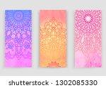 round gradient mandala on...   Shutterstock .eps vector #1302085330