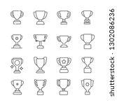 set of trophy related vector... | Shutterstock .eps vector #1302086236