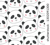 childish seamless pattern with... | Shutterstock .eps vector #1302091300