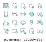 set of add related vector line... | Shutterstock .eps vector #1302094936