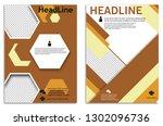 infographics in brochures for... | Shutterstock .eps vector #1302096736