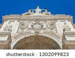 triumphal arch of lisbon | Shutterstock . vector #1302099823
