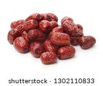 dry red jujubes isolated on... | Shutterstock . vector #1302110833