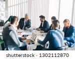 onstruction company management ... | Shutterstock . vector #1302112870