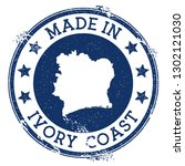made in ivory coast stamp.... | Shutterstock .eps vector #1302121030