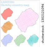 lesotho sketchy country. posh...   Shutterstock .eps vector #1302121096