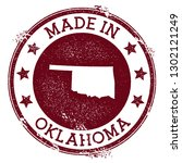 made in oklahoma stamp. grunge... | Shutterstock .eps vector #1302121249