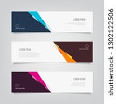 vector abstract banner design... | Shutterstock .eps vector #1302122506