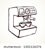 fast morning hot drop stand on... | Shutterstock .eps vector #1302126376