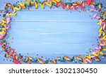 colorful carnival or birthday... | Shutterstock . vector #1302130450