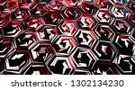 abstract multicolor texture... | Shutterstock . vector #1302134230