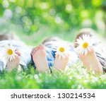 Healthy Feet Of Family With...