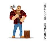 Lumberjack Brutal Bearded Man...
