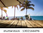 wooden table of free space for... | Shutterstock . vector #1302166696