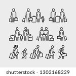 people travel icons. family... | Shutterstock .eps vector #1302168229