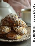 crinkles cookies on a rustic... | Shutterstock . vector #1302173056