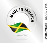 made in jamaica transparent... | Shutterstock .eps vector #1302179146