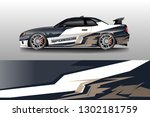 racing car decal wrap vector...   Shutterstock .eps vector #1302181759