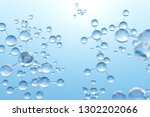 molecules and atoms in blue... | Shutterstock . vector #1302202066