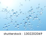 molecules and atoms in blue... | Shutterstock . vector #1302202069