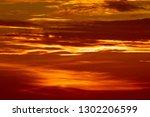 red sky during sunset | Shutterstock . vector #1302206599
