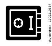 safe glyph icon