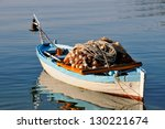Small Fishing Boat With Fishin...