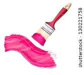 paint brush with wooden handle... | Shutterstock . vector #130221758