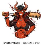 Cool Demon Devil Girl Beautifu...