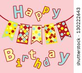 postcards birthday with five...   Shutterstock .eps vector #130222643