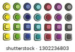 set of colorful cartoon buttons ...
