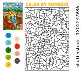 color by number  education game ... | Shutterstock .eps vector #1302242986
