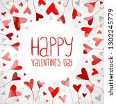 light background with hearts... | Shutterstock .eps vector #1302245779