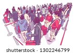 illustration of people tourists ... | Shutterstock .eps vector #1302246799