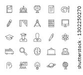 this is a set of school icons | Shutterstock . vector #1302250270