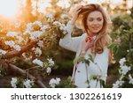 gorgeous blonde girl in...   Shutterstock . vector #1302261619