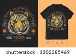 tiger head. back in the jungle... | Shutterstock .eps vector #1302285469