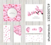 set of greeting and invitation... | Shutterstock .eps vector #1302305719