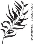 eucalyptus branch. vector of... | Shutterstock .eps vector #1302307270