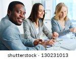 confident businessman looking... | Shutterstock . vector #130231013