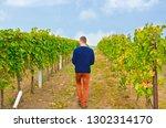 young well dressed winemaker... | Shutterstock . vector #1302314170