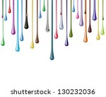 water drops icon set color.... | Shutterstock . vector #130232036