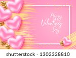 happy valentines day card with...   Shutterstock .eps vector #1302328810