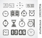 different slyle of clock vector ... | Shutterstock .eps vector #130232936