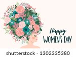 international women s day.... | Shutterstock .eps vector #1302335380