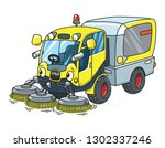 funny small sweeper municipal...
