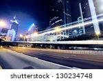 traffic in hong kong at night | Shutterstock . vector #130234748