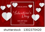 valentines day sale background... | Shutterstock .eps vector #1302370420