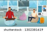 airplane passenger  freelancer... | Shutterstock .eps vector #1302381619